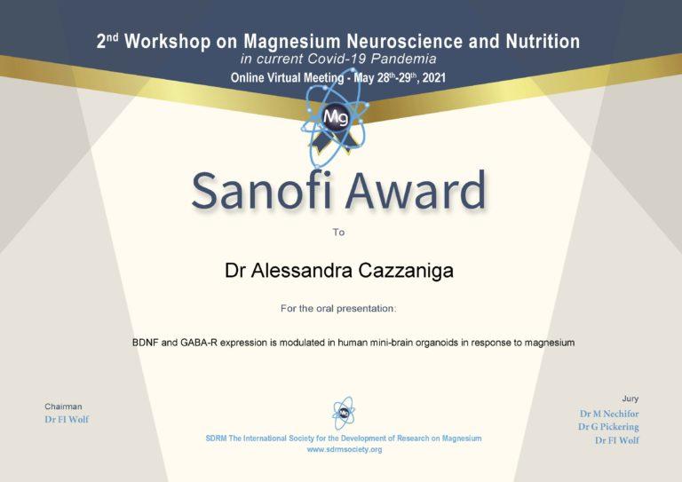award_Sanofi_Dr Cazzaniga